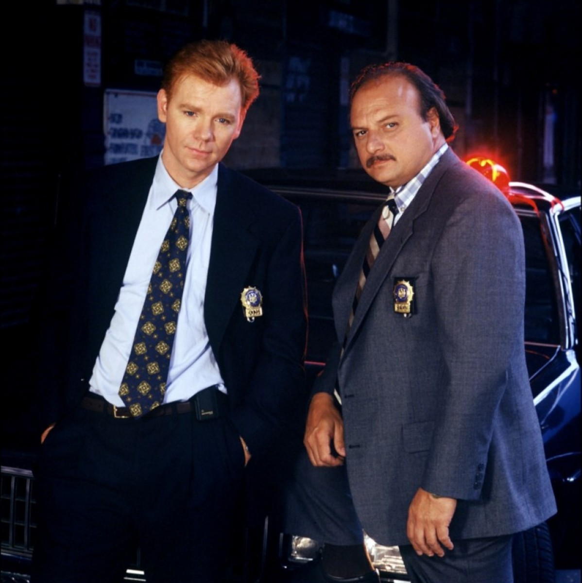 David Caruso (left) on NYPD Blue.