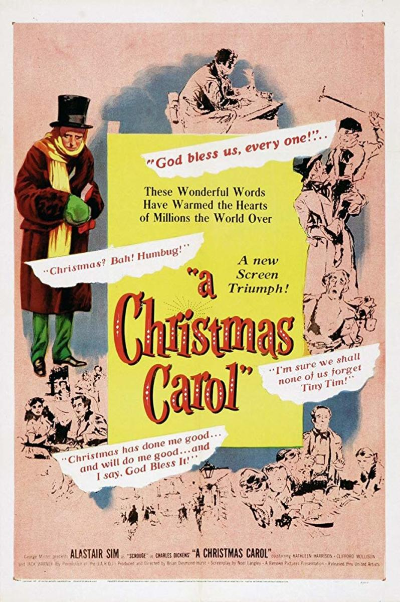 "Movie poster for ""A Christmas Carol"" with Alastair Sim (1951)"