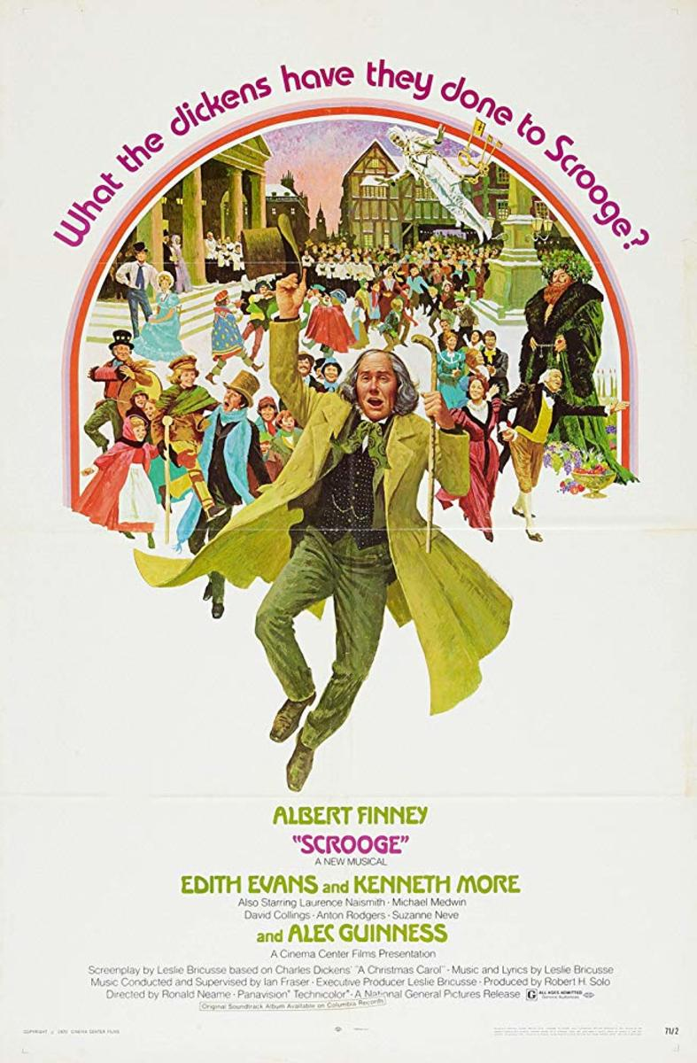 "Movie poster for ""Scrooge"" with Albert Finney (1970)"
