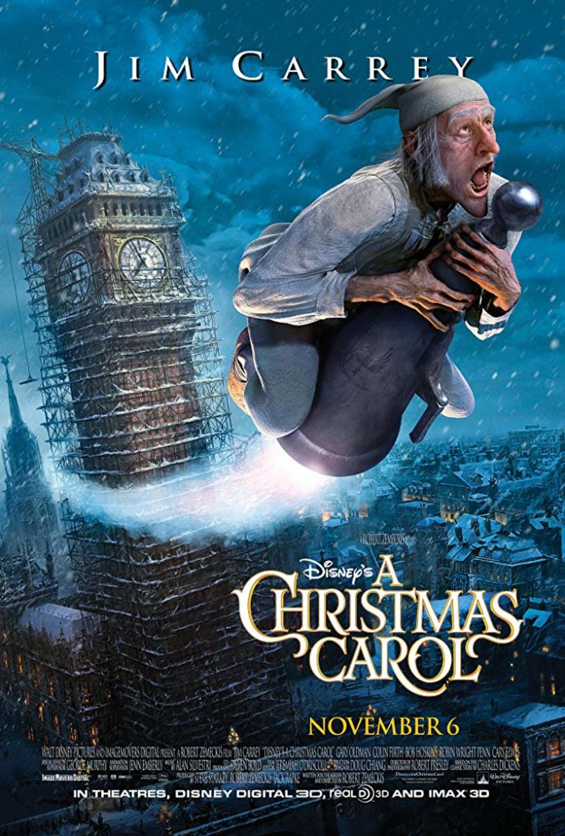 "Movie poster for Disney's ""A Christmas Carol"" with Jim Carrey (2009)"