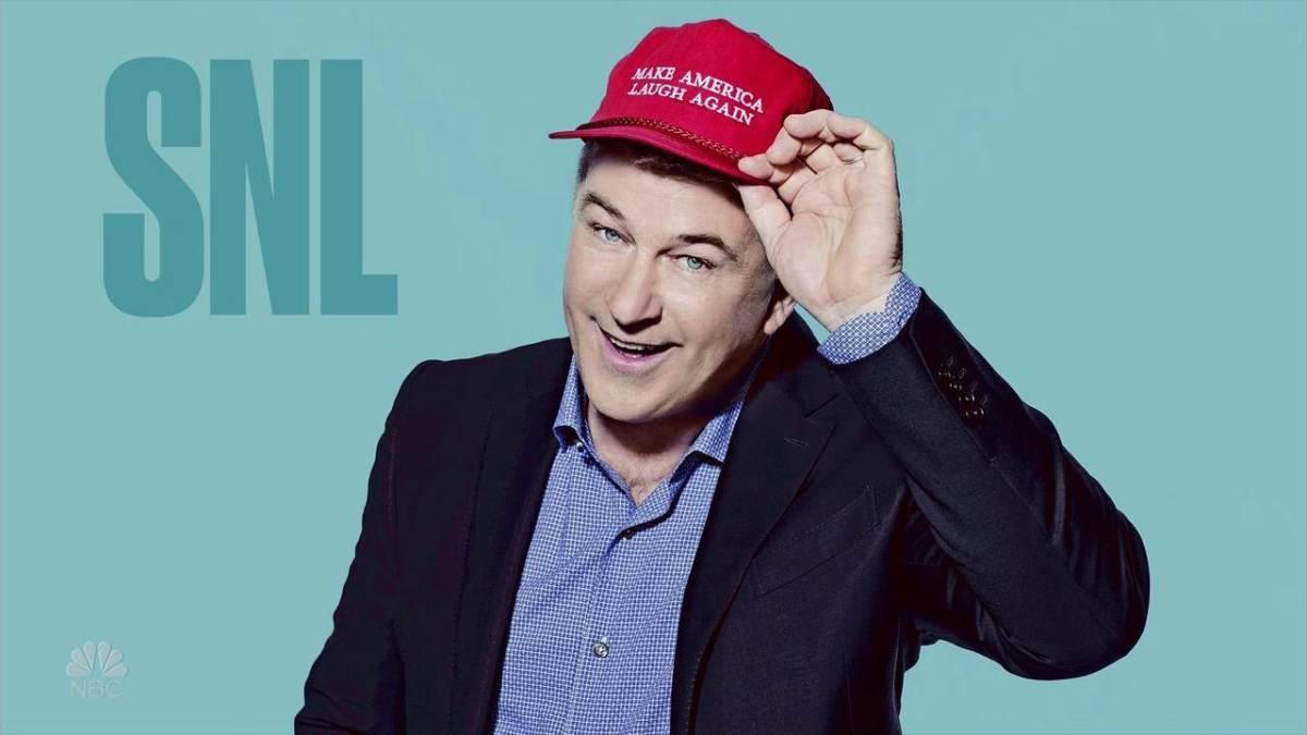 Alec Baldwin hosting SNL.