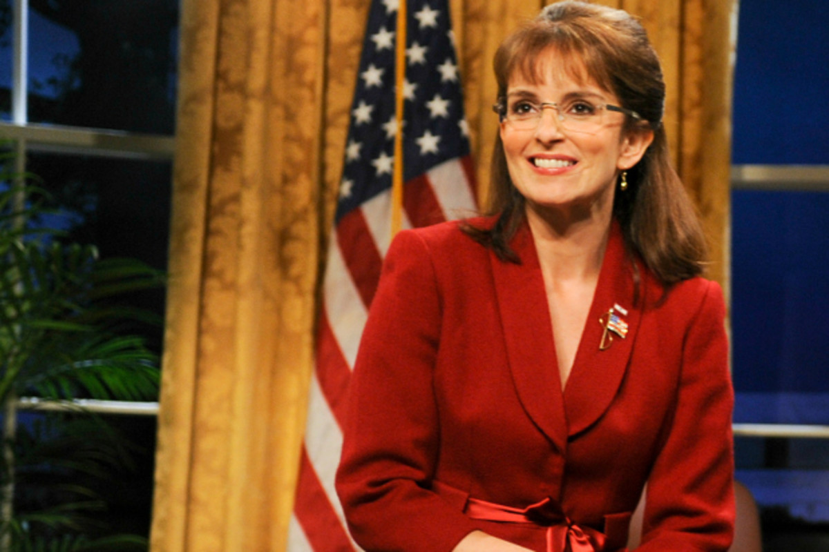 Tina Fey as Sarah Palin.