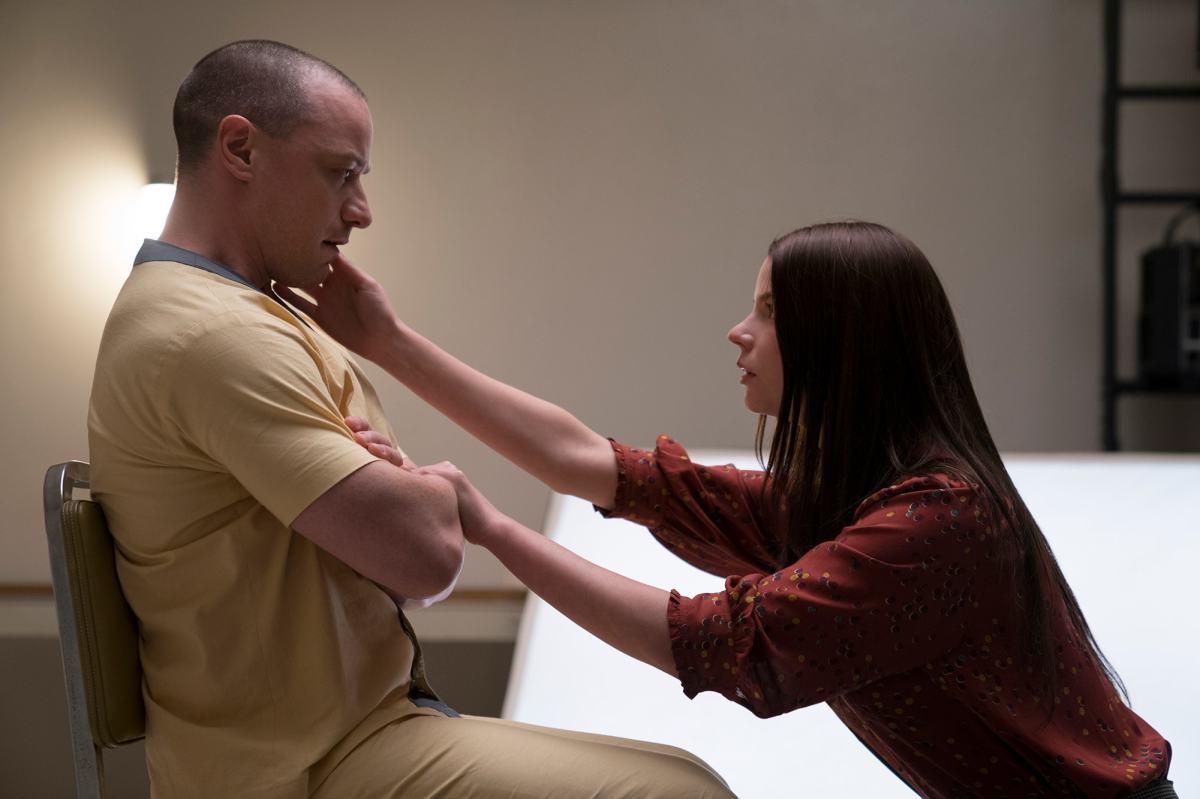 "James McAvoy and Anya Taylor-Joy in, ""Glass."""