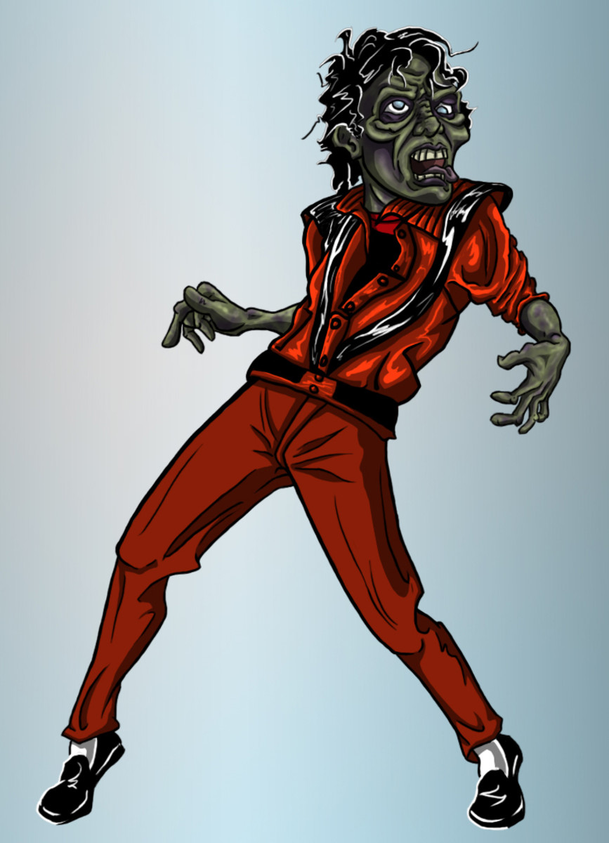 It can't be an official Zombie '80s without a little Thriller! (My own personal artwork)