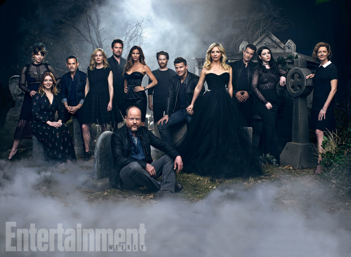 Most of the Buffy cast reunited for a 20th anniversary photo shoot in 2017.