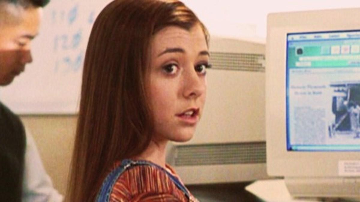 Alyson Hannigan during Season 1 of Buffy.
