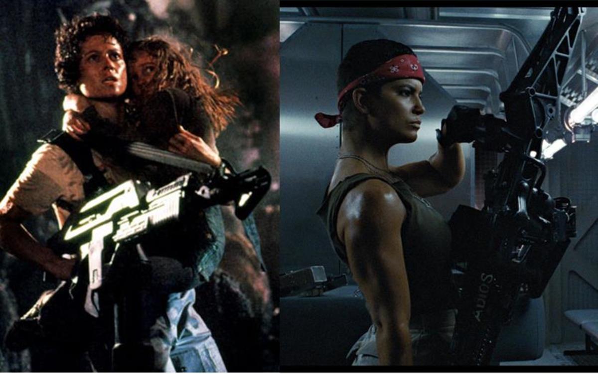 Ripley and Vasquez in Aliens (1986)