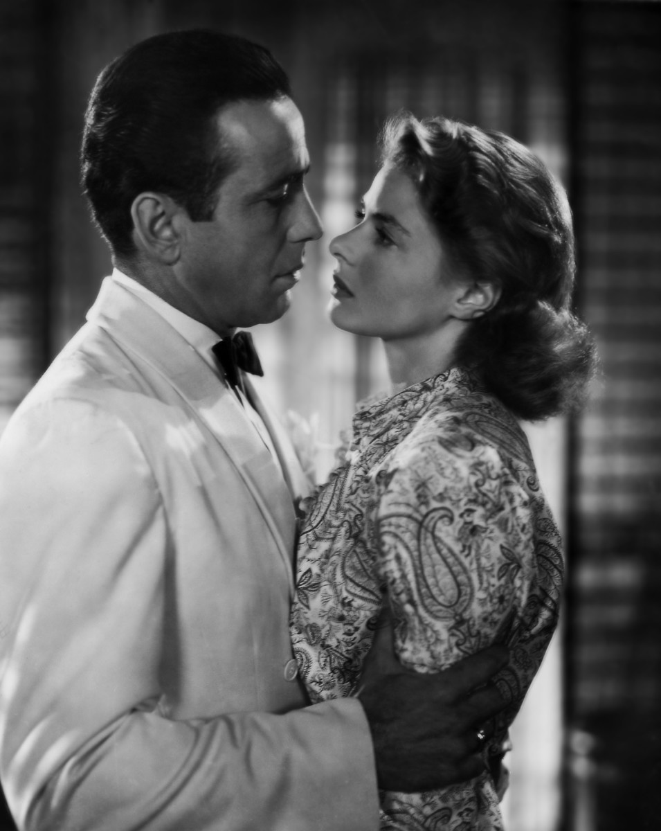 Humphrey Bogart & Ingrid Bergman in Casablanca.