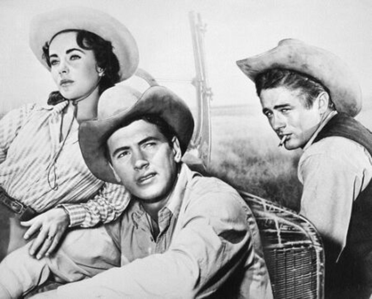 Elizabeth Taylor, Rock Hudson & James Dean in Giant.