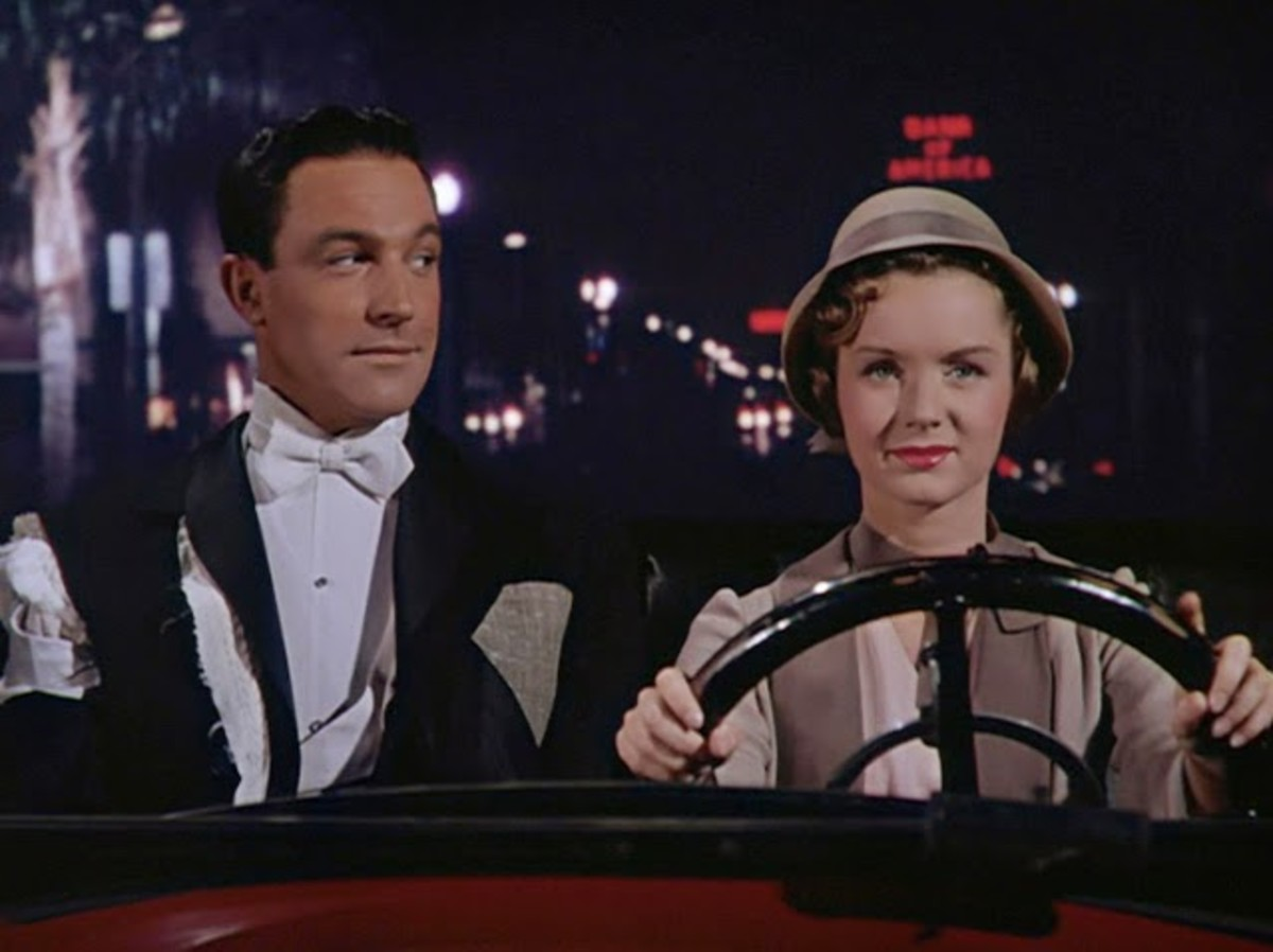 Gene Kelly and Debbie Reynolds in Singin' in the Rain.