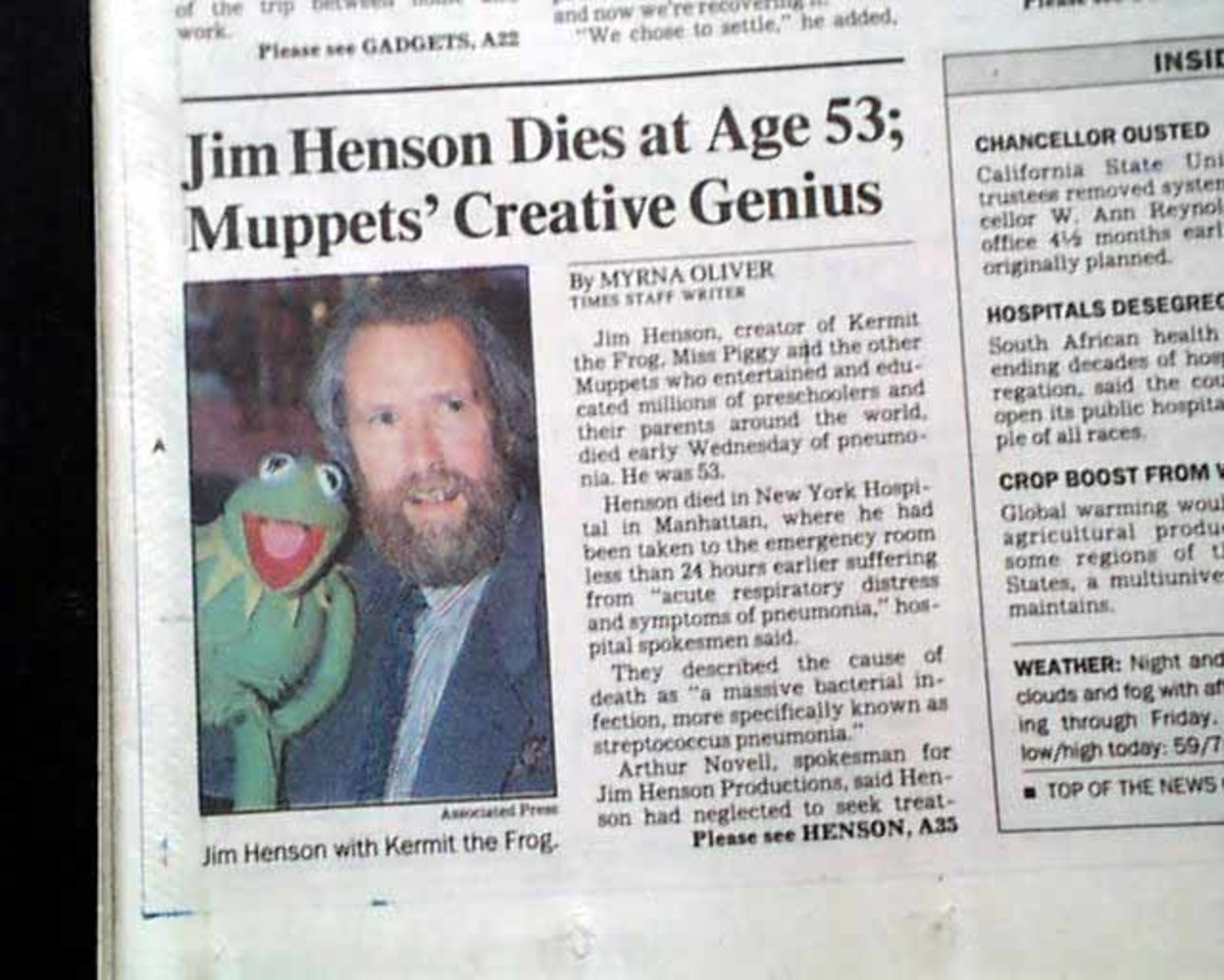 Jim Henson death notice