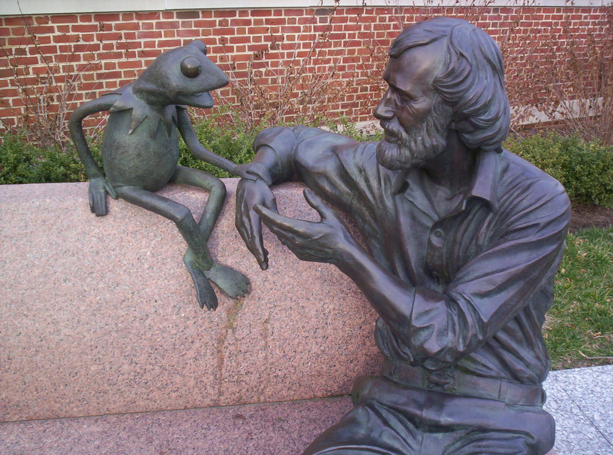 Jim Henson statue at University of Maryland