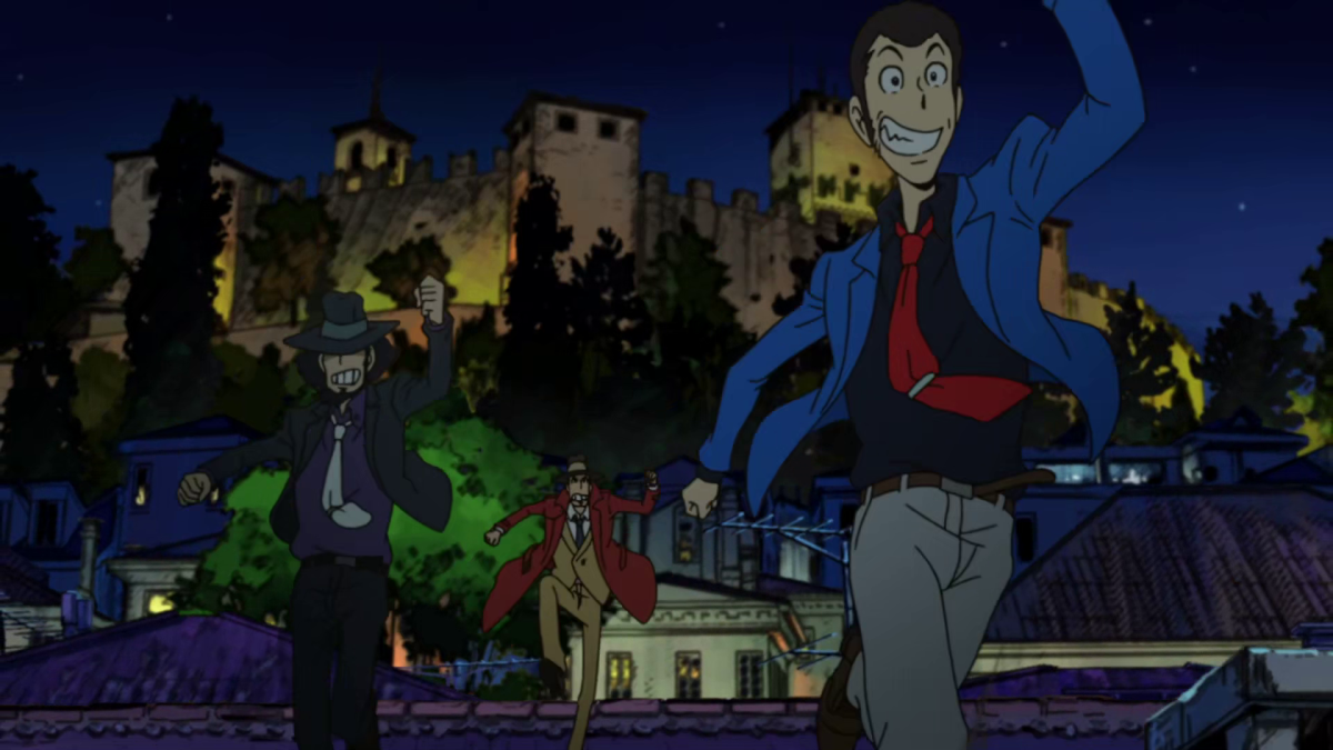 Lupin and Jigen once again on the run from Zenigata's long arms of the law.