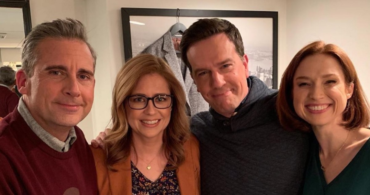 Steve Carrell, Jenna Fischer, Ed Helms, and Ellie Kemper.