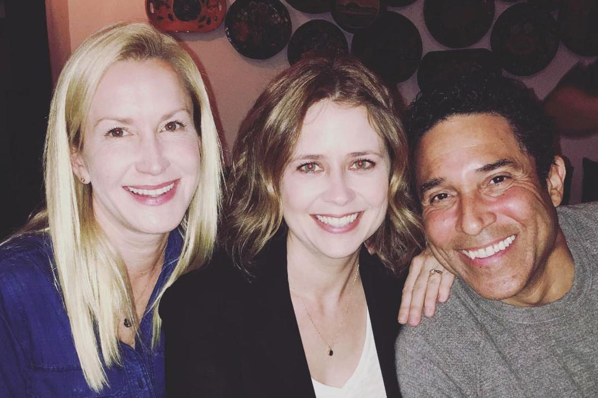 Angela Kinsey, Jenna Fischer and Oscar Nunez.