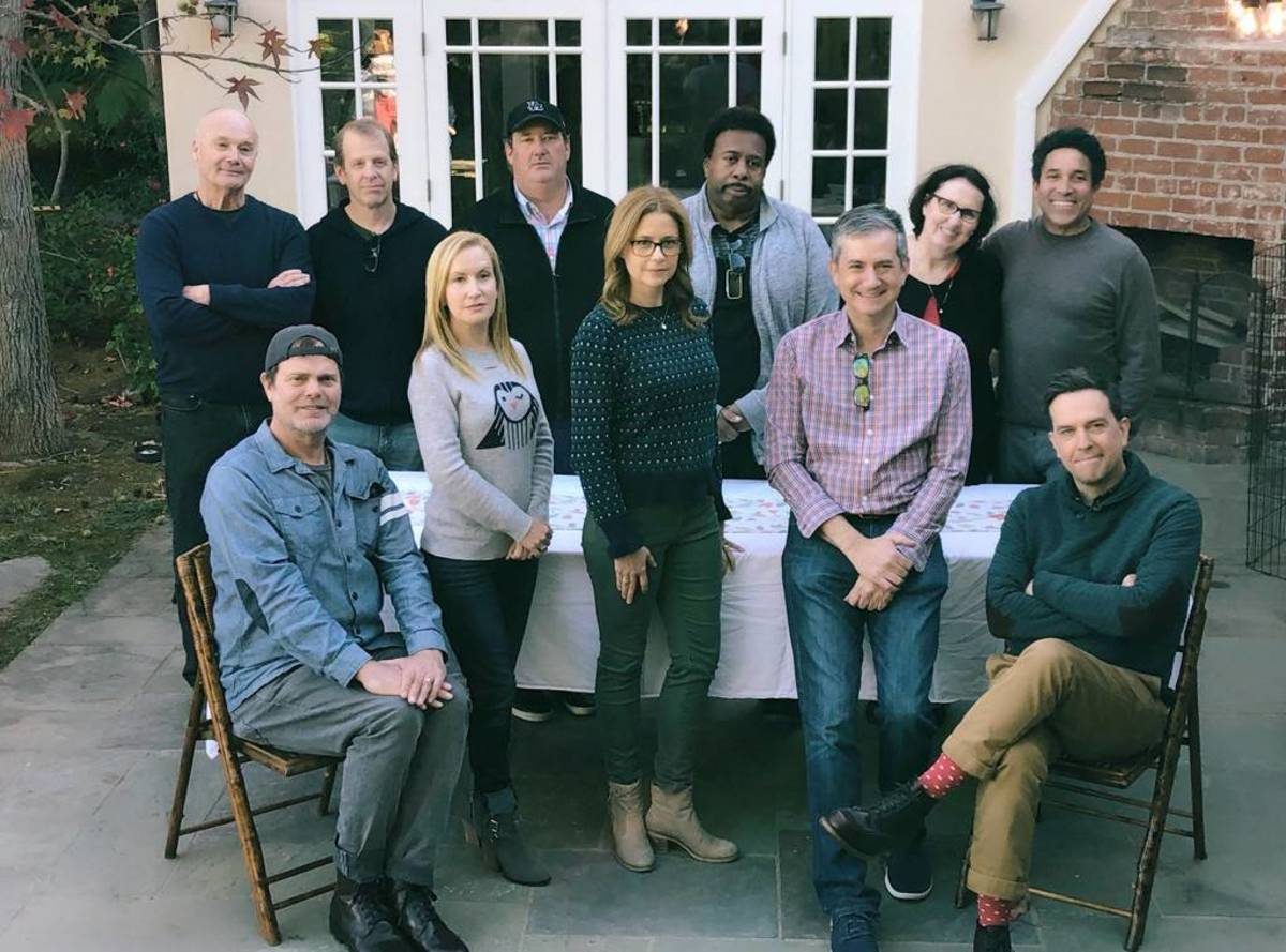 Some of the cast reunited at Greg Daniels's house in 2018!