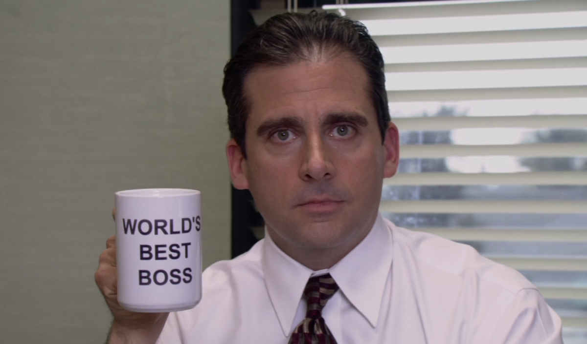 Steve Carell as Michael Scott in Season 1 of The Office.