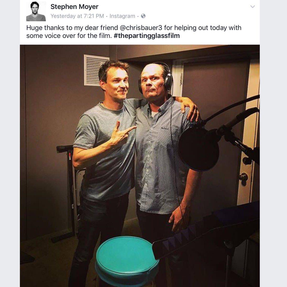 Stephen Moyer and Chris Bauer (Andy Bellefleur) worked together after the show's end!