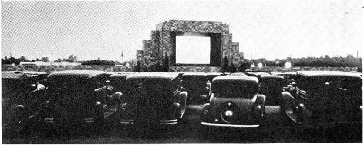 The world's first drive-in theatre near Camden, New Jersey.