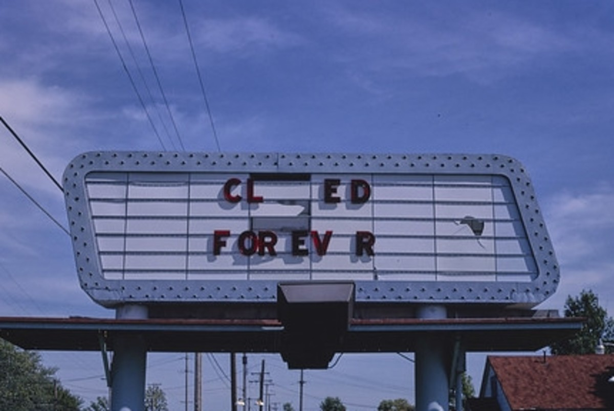 Sign of the times: Bay City, Michigan, 1988.