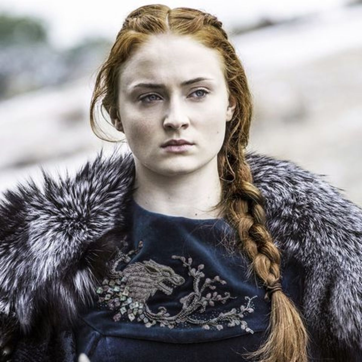 Courtesy of HBO.  Sansa at the Battle of the Bastards.
