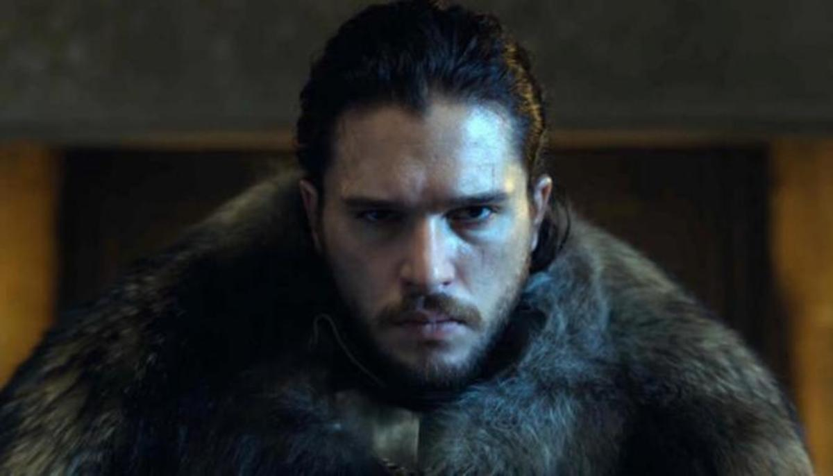 Courtesy of HBO. Jon's coronation as King of the North.