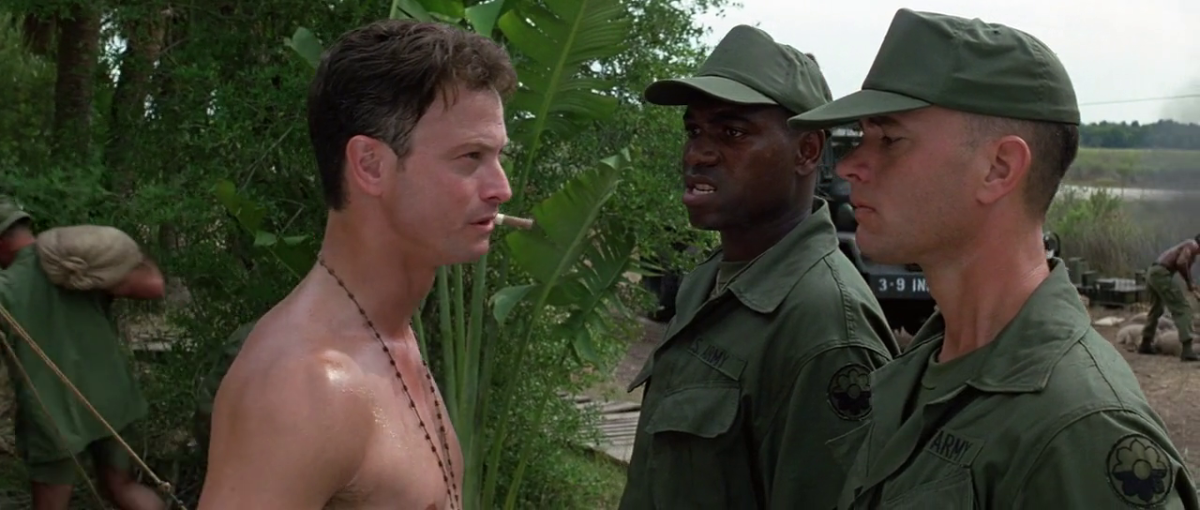Gary Sinise (Dan), Mykelti Williamson (Bubba) and Tom Hanks (Forrest).