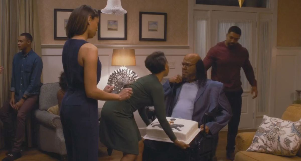 The cake is important to the plot because Tyler Perry needed a reason for a beautiful young woman to touch his lap.