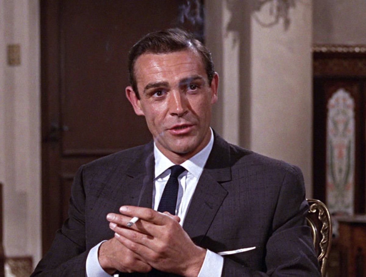 Sean Connery as James Bond.