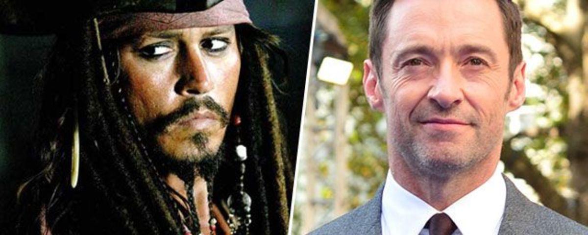 Johnny Depp as Jack Sparrow & Hugh Jackman.