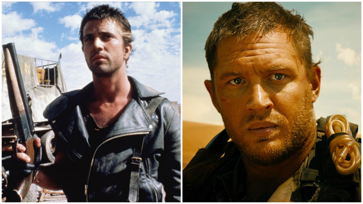 Mel Gibson & Tom Hardy in Mad Max.