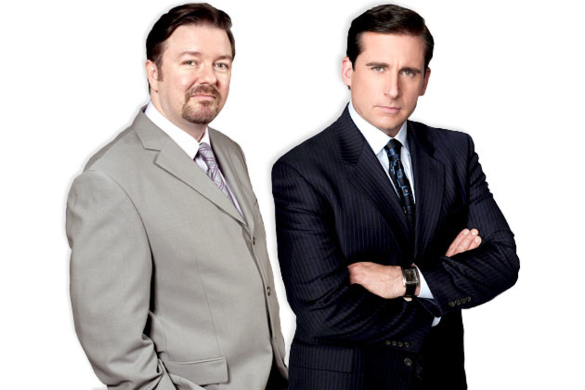 The Office's Ricky Gervais & Steve Carell.
