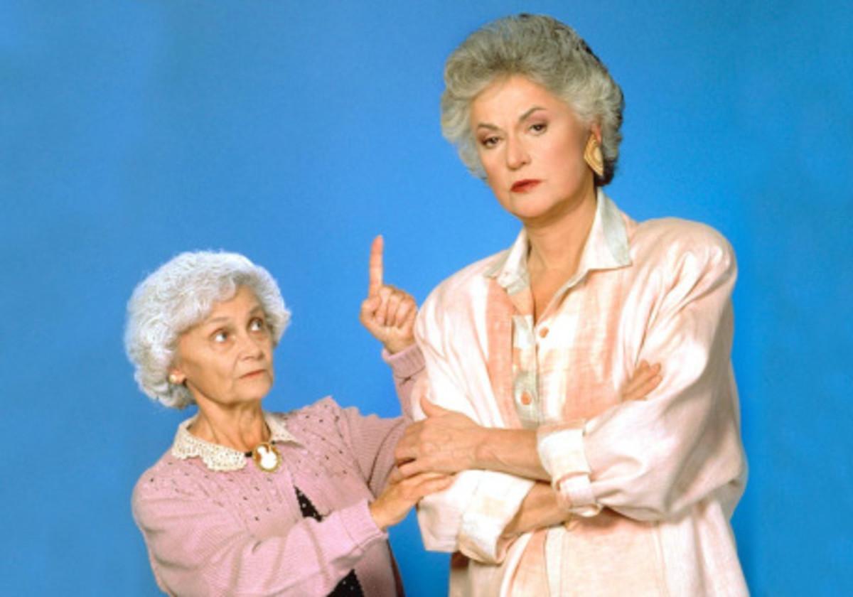 Estelle Getty (Sophia) & Bea Arthur (Dorothy) on The Golden Girls.