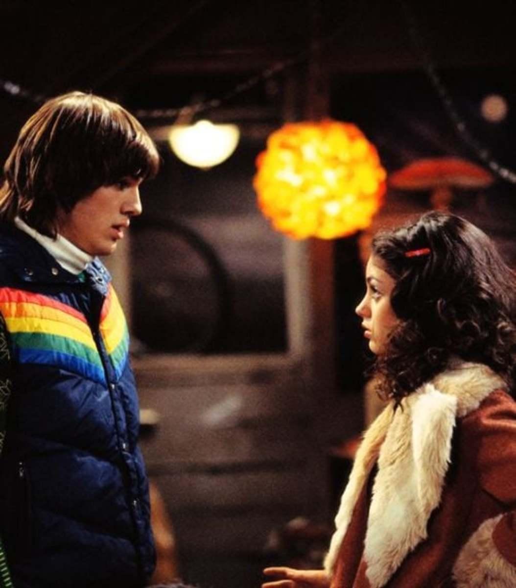 Ashton Kutcher (Kelso) & Mila Kunis (Jackie) on That 70's Show.