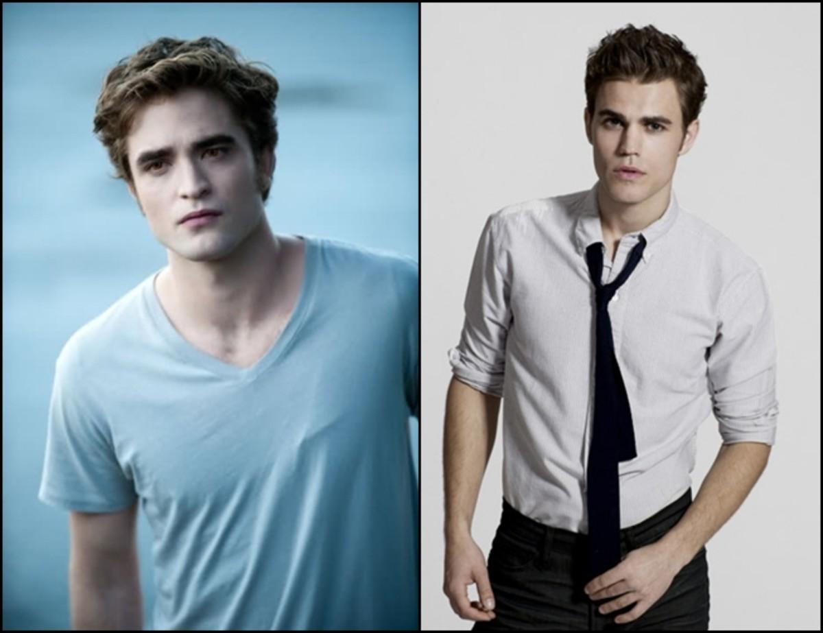 Robert Pattinson and Paul Wesley (Stefan).