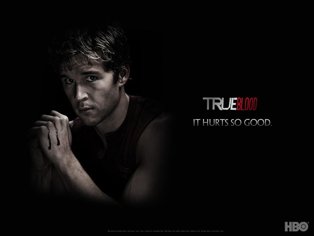 Ryan Kwanten as Jason on True Blood.