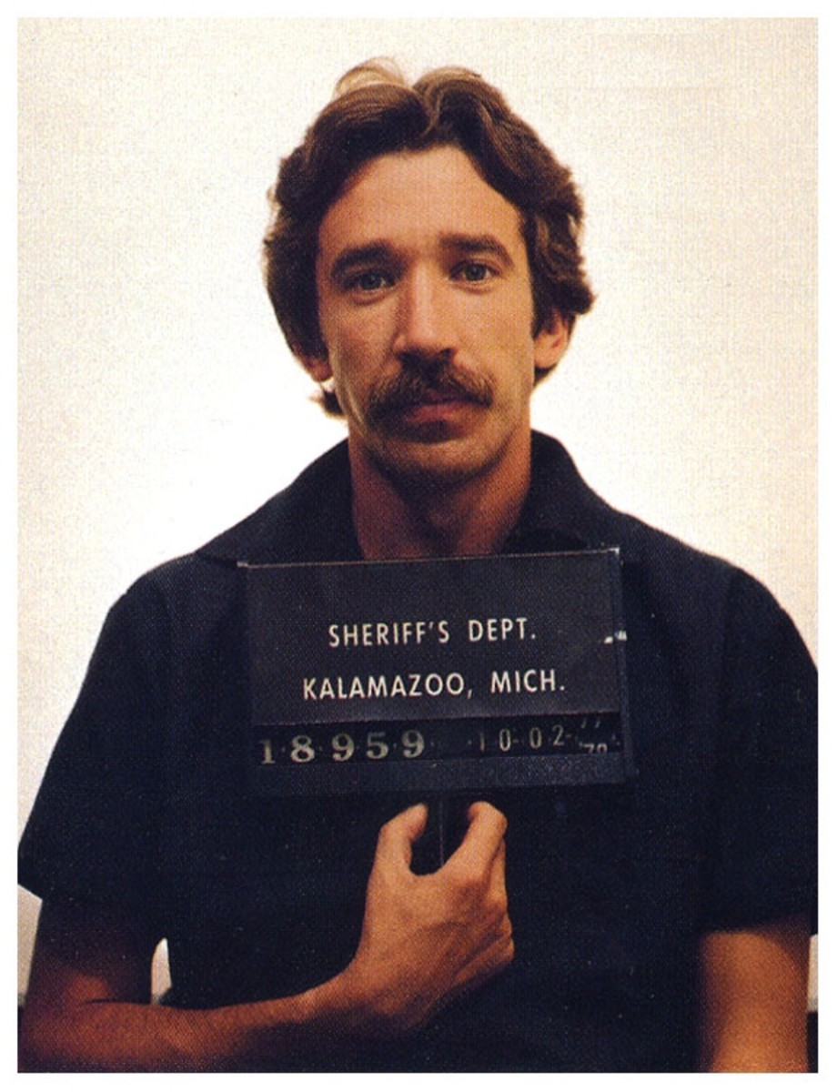 Tim Allen's 1978 mugshot.