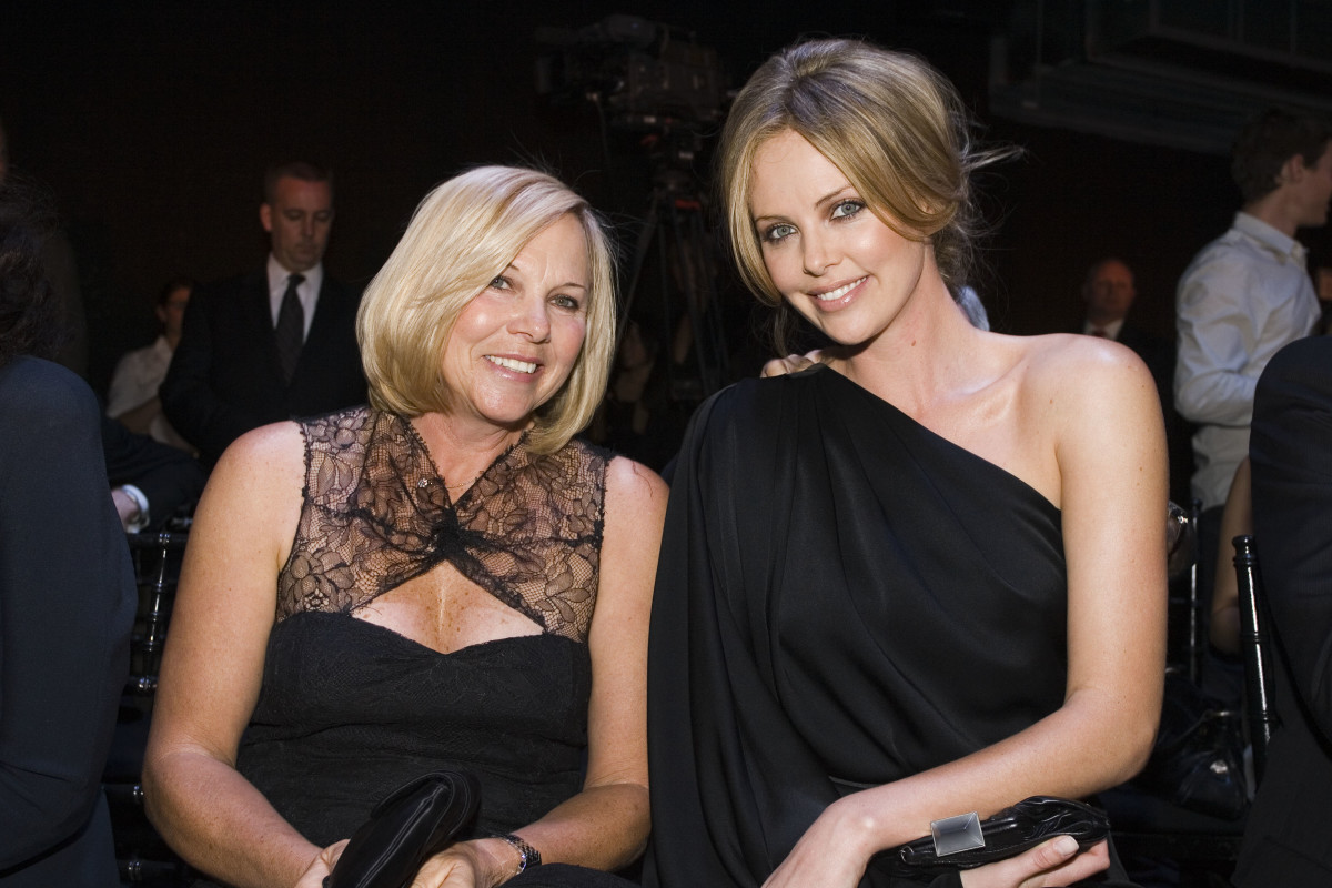 Charlize Theron and her mother.