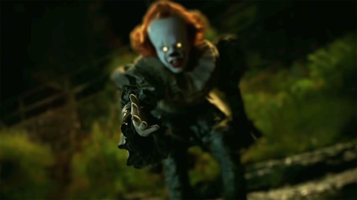 """Bill Skarsgard as Pennywise in, """"It: Chapter Two."""""""