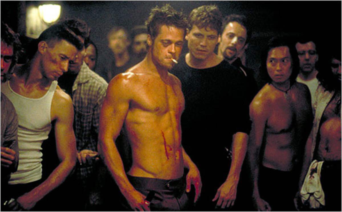 From 20th Century Fox. Fight Club became a cult classic,and cultural icon because of its depiction because of its appeal to brotherhood amidst the cynicism of mass consumerism in the 1990's.  Many today however find it to be toxic for the same reason