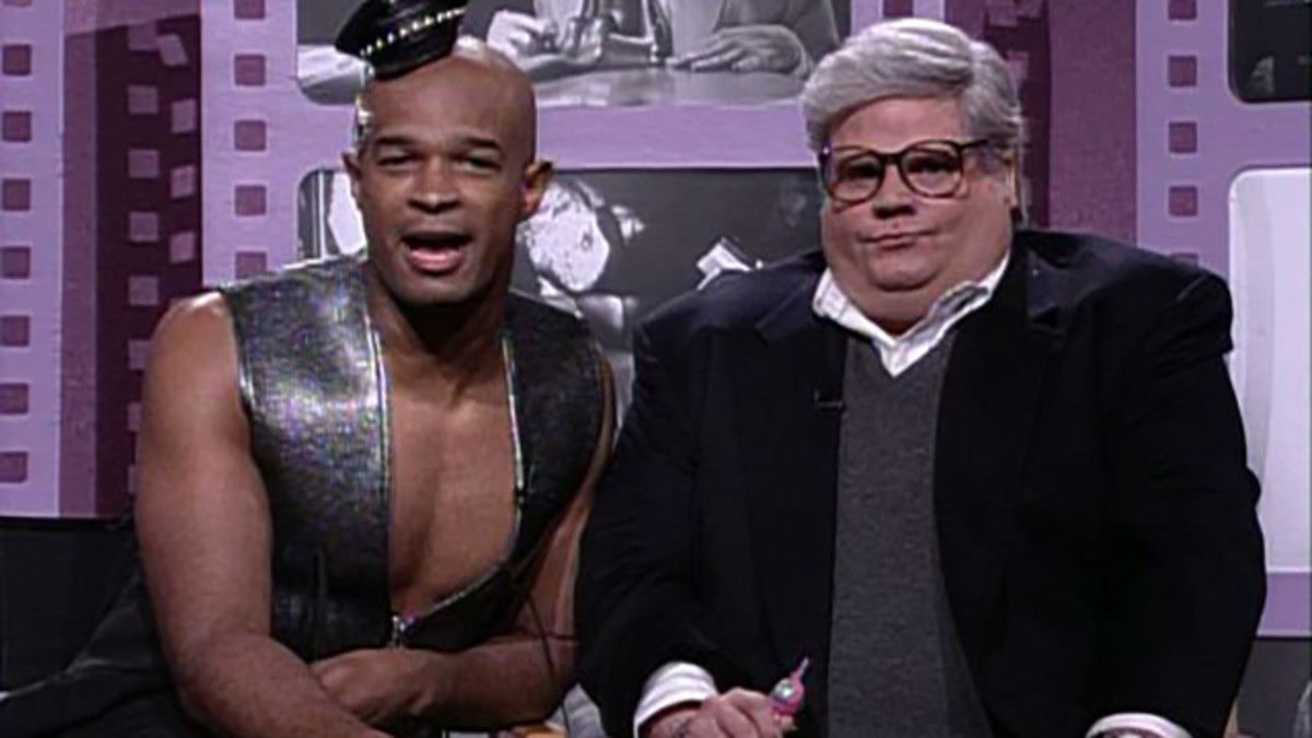 Damon Wayans alongside Chris Farley.