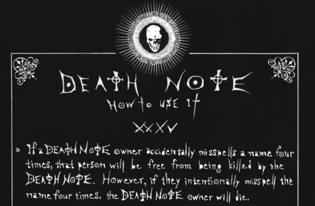 Misspelling names in the Death Note