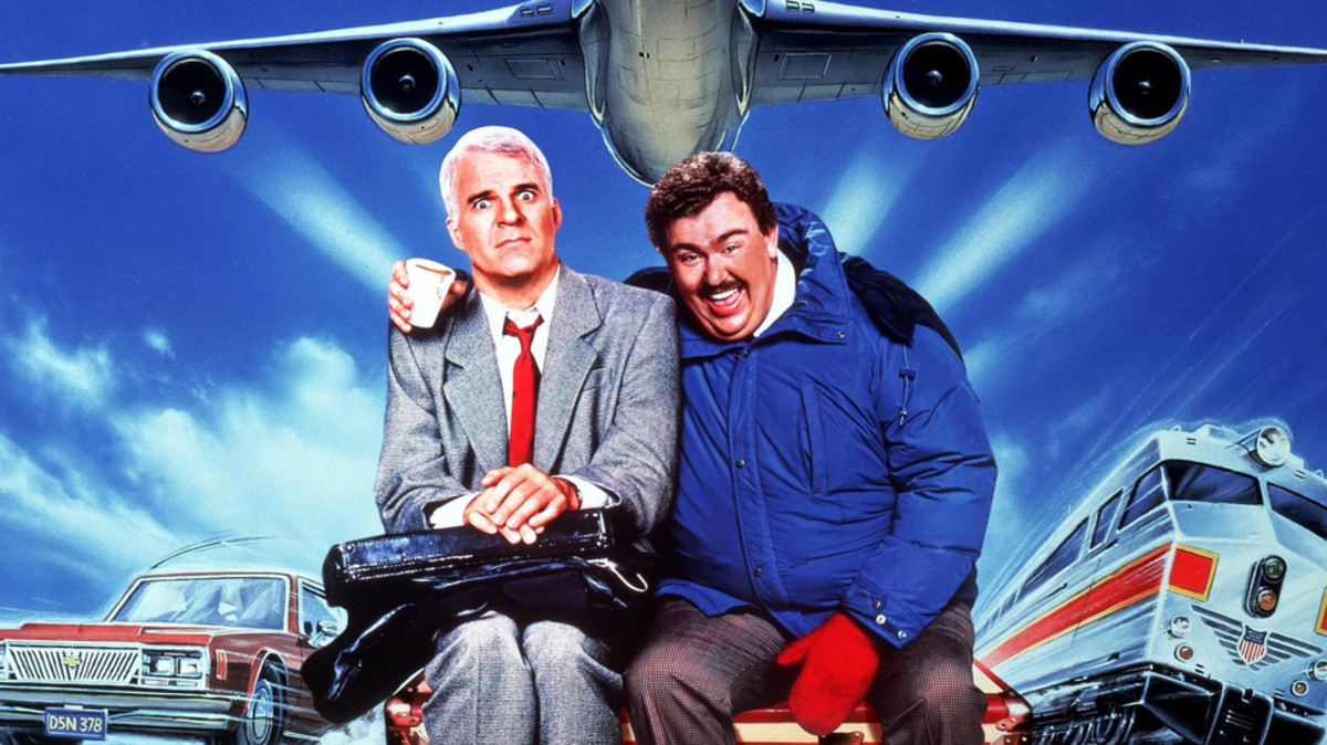 Steve Martin and John Candy in Planes, Trains & Automobiles.