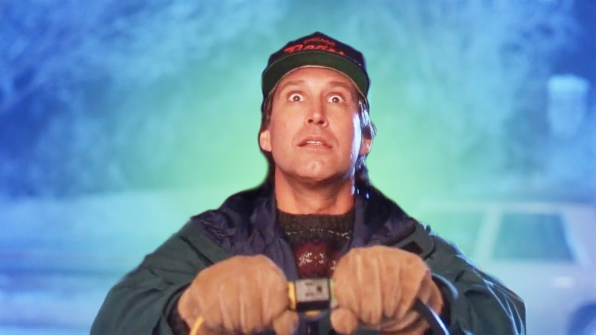 Chevy Chase as Clark in National Lampoon's Christmas Vacation.