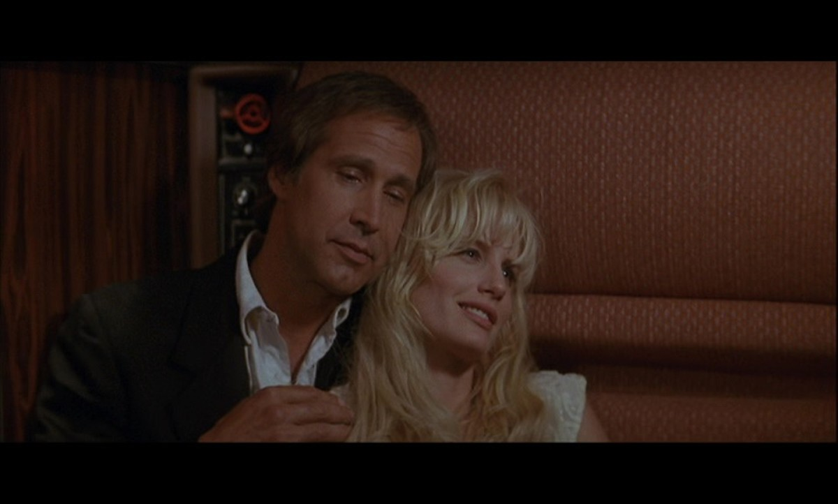 Chevy Chase and Daryl Hannah being cute.