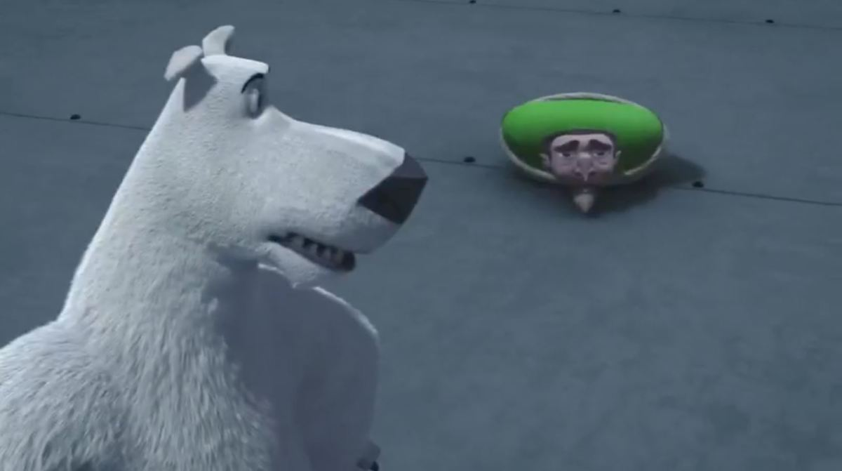 The decapitated head with a sombrero from 'Norm of the North 2'.