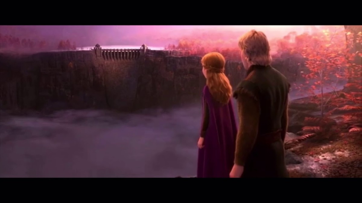 The dam represents Arendelle's prosperity at the cost of Northuldran freedom and security.