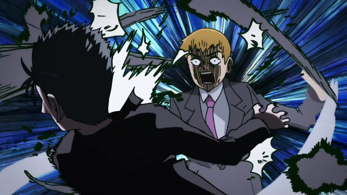 Reigen unleashes one of his special techniques: The Self-Defense Rush!