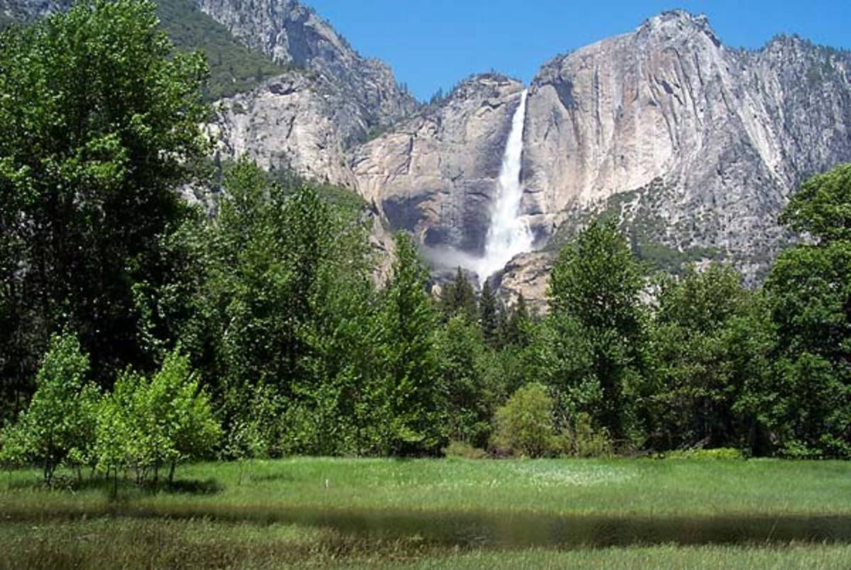 Yosemite is known for its many waterfalls
