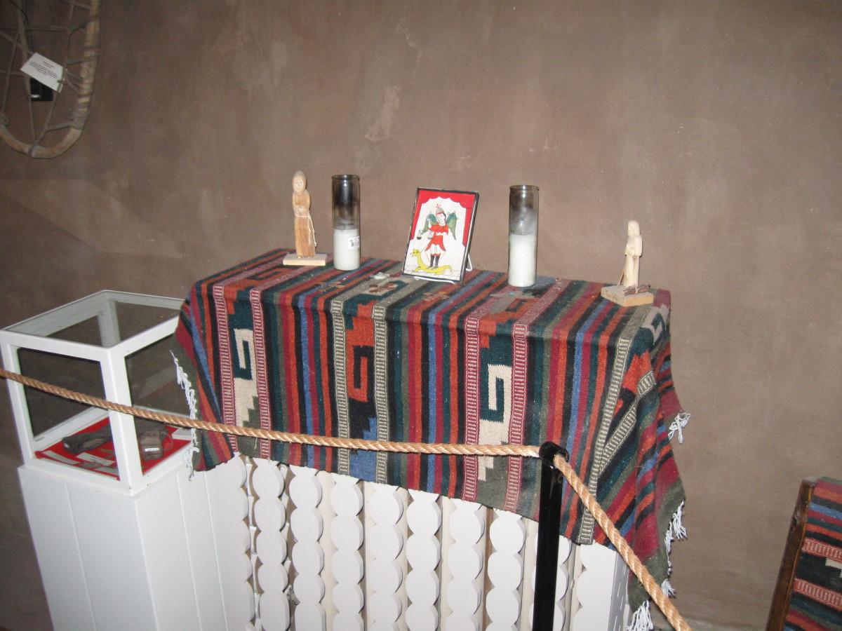 Family Altar inside Santa Fe's Casa Vieja de Analco